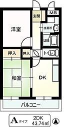 ストーク利倉[1階]の間取り