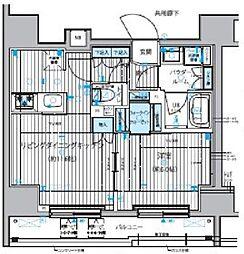都営大江戸線 新御徒町駅 徒歩4分の賃貸マンション 8階1LDKの間取り