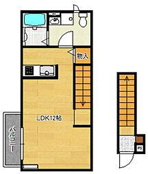 バローニB棟[2階]の間取り