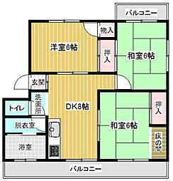 第1村田ハイツ[402号室]の間取り