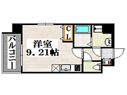 JR鹿児島本線 吉塚駅 徒歩6分の賃貸マンション 10階ワンルームの間取り