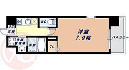 Osaka Metro千日前線 桜川駅 徒歩9分の賃貸マンション 9階1Kの間取り