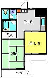 神奈川県横浜市磯子区下町の賃貸マンションの間取り