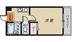 大阪府堺市堺区北瓦町2丁の賃貸マンションの間取り