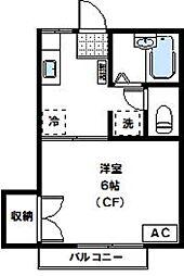 神奈川県川崎市高津区末長3丁目の賃貸アパートの間取り