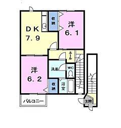シャルマン鐘鋳場[2階]の間取り