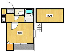 ハーモニー姪浜 弐番館[205号室]の間取り