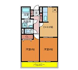 千葉県柏市松ケ崎の賃貸マンションの間取り