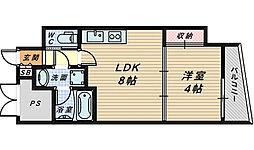 ラシーヌ宿院[2階]の間取り