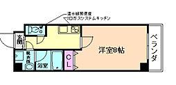 パーラム野田 5階1Kの間取り