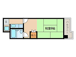 滋賀県甲賀市水口町東名坂の賃貸マンションの間取り