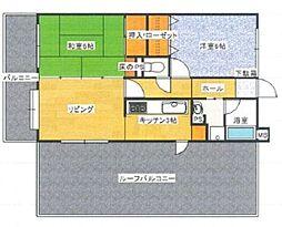 アンピールマンション第5新室見[811号室]の間取り