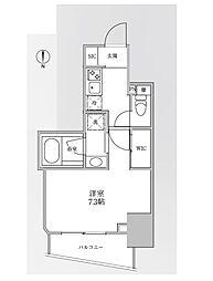 JR中央線 御茶ノ水駅 徒歩7分の賃貸マンション 2階1Kの間取り
