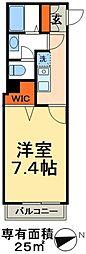 JR常磐線 北小金駅 徒歩3分の賃貸アパート 3階1Kの間取り