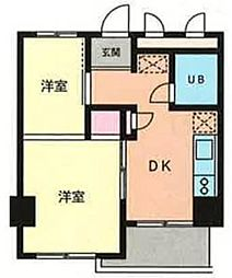 神奈川県横浜市青葉区藤が丘1丁目の賃貸マンションの間取り