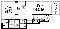 エスプラネード[1階]の間取り