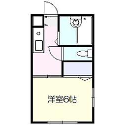 神奈川県横浜市泉区中田北1丁目の賃貸アパートの間取り