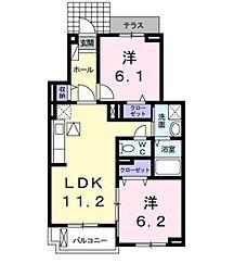 パステル ユニオン[1階]の間取り