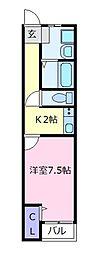 藤井寺大発マンション[2階]の間取り