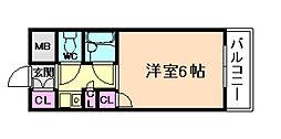 ロマネスク姫島[1階]の間取り
