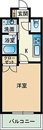 大三祇園ビル[0505号室]の間取り