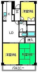 サンシャイン大成[1階]の間取り