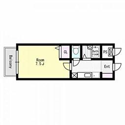 アンプルールフェール51[2階]の間取り