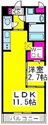 JR阪和線 堺市駅 徒歩3分の賃貸マンション 5階1LDKの間取り