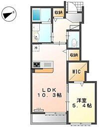 都営新宿線 瑞江駅 徒歩18分の賃貸マンション 1階1LDKの間取り