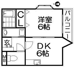 ピコットI[5階]の間取り