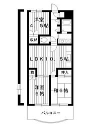 東京都練馬区春日町5丁目の賃貸マンションの間取り