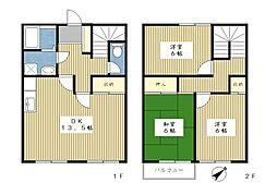 [テラスハウス] 神奈川県横浜市都筑区牛久保西4丁目 の賃貸【/】の間取り