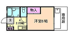 大阪府豊中市曽根西町4丁目の賃貸アパートの間取り