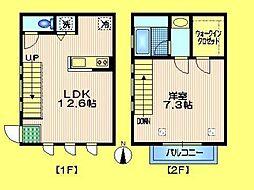 京王井の頭線 永福町駅 徒歩6分の賃貸マンション 2階1LDKの間取り