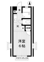 東京都練馬区桜台5丁目の賃貸アパートの間取り