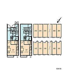 レオパレスヴィラポワール[2階]の間取り