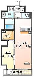 仮)本町新築マンション 1階1LDKの間取り