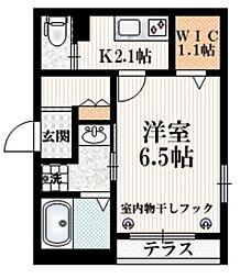 東京メトロ有楽町線 飯田橋駅 徒歩5分の賃貸マンション 1階1Kの間取り