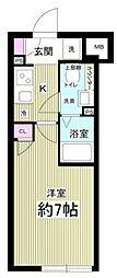 (仮称)AGRATIO目黒本町 2階1Kの間取り