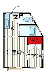石戸中央ハイツ[2階]の間取り