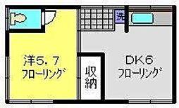 神奈川県横浜市南区日枝町2丁目の賃貸アパートの間取り