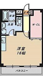 大阪府堺市堺区少林寺町東3丁の賃貸マンションの間取り