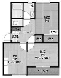 ハイツペアガーデン2[1階]の間取り
