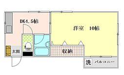 栄町マンション 3階1DKの間取り