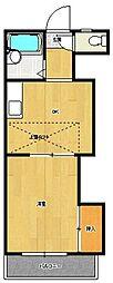 レオパレス新室見VI[203号室]の間取り
