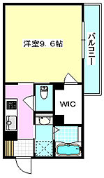 大阪モノレール彩都線 阪大病院前駅 徒歩6分の賃貸アパート 2階1Kの間取り