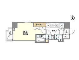 京王線 上北沢駅 徒歩9分の賃貸マンション 1階1Kの間取り