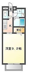 愛知県岡崎市国正町字西浦の賃貸アパートの間取り