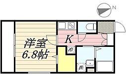 ISLA綱町 旧:(仮称)港区三田2丁目計画 1階1Kの間取り
