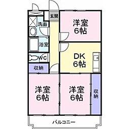 メゾンスプリング[2階]の間取り